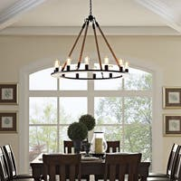 Modway Encircle Matte Black Steel 12-light Contemporary Chandelier