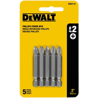 Dewalt DW2115 2-inch #2 Phillips Power Bits 5-count