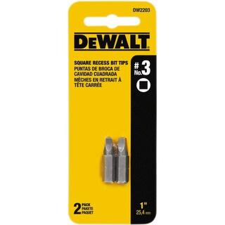 Dewalt DW2203 1-inch #3 Square Recess Power Bits 2-count
