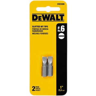 Dewalt DW2006 1-inch #6 Slotted Power Bits 2-count