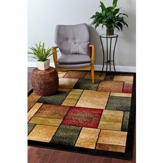 Persian Rugs Modern Trendz Squares Area Rug (6'5 x 9'2)