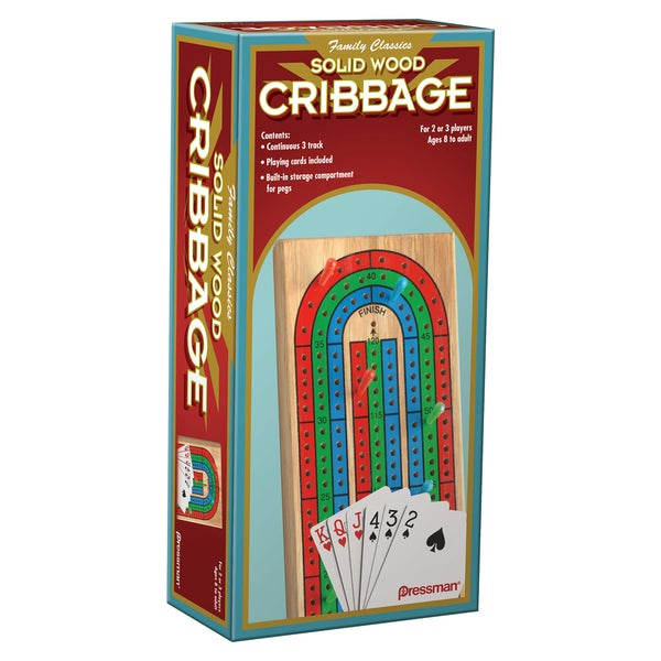 Pressman 1810-06 Folding Cribbage W/Cards Game