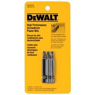 Dewalt DW2026 #2 2-inch Phillips Deck Power Bits 3-count
