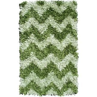 Hand-woven Flower Stitch Cotton Rug (2'8 x 4'8)