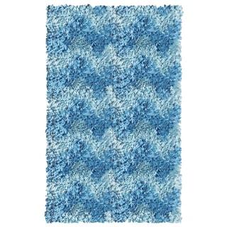 Hand-woven Brocade Yellow Cotton Rug (2'8 x 4'8)
