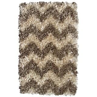 Hand-woven Brocade Cotton Rug (2'8 x 4'8)