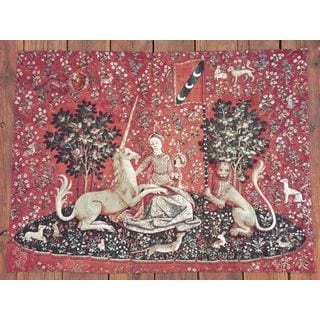 """Unicorn """"Sight"""" Medieval Wall Tapestry"""