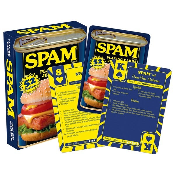 Spam 52232 Spam Recipe Playing Cards
