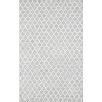 Pasargad Trellis Silver Cowhide Rug (2' x 3')