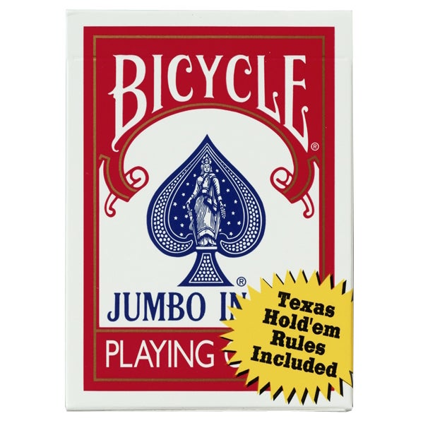 Bicycle 1004380 Jumbo Index Poker Cards