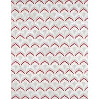 Pasargad Geometric Silver and Red Cowhide Rug (2' x 3')