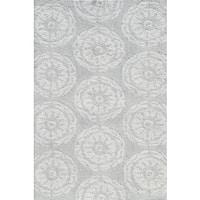 Hand-hooked Twirl Grey Rug - 2'8 x 4'4