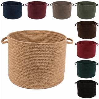 Rhody Rug Madeira 12 x 18-inch Braided Basket