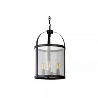 Urban Designs Lancelot Black Industrial Chic Hanging Lamp