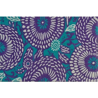Hand-tufted Botanical Flora Aqua/ Purple Rug (2'8 x 4'8)