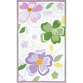 Hand-hooked Sweet Rose Cotton Rug (2'8 x 4'8)