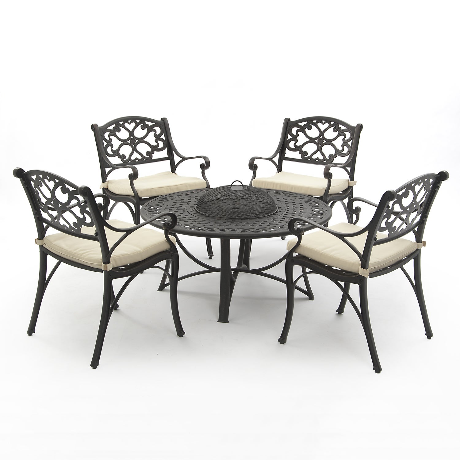 Oregon Aluminium Firepit Collection(1 table, 4 arm chairs...