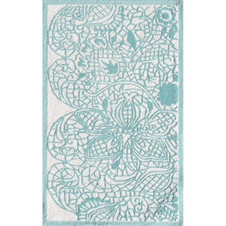 Hand-hooked Shimmer Polyester Rug (2'8 x 4'8)