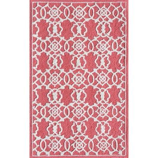 Hand-hooked Don't Be Square Acrylic Rug (2'8 x 4'8)