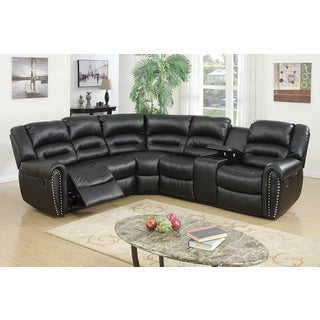 Vinstra Motion Bonded Leather Upholstered Sectional  sc 1 st  Overstock.com : leather motion sectional sofa - Sectionals, Sofas & Couches