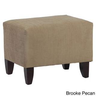 Zoe Faux Leather Upholstered Cube Ottoman