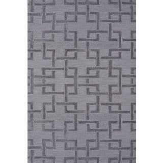 Hand-hooked Shimmer Grey Rug (2'8 x 4'8)