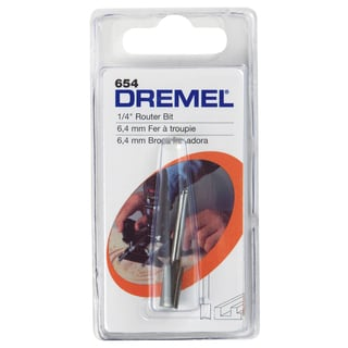 "Dremel 654 1/4"" Straight Router Bit"