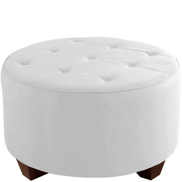 Shop Skyline Furniture Premier White Tufted Round Cocktail