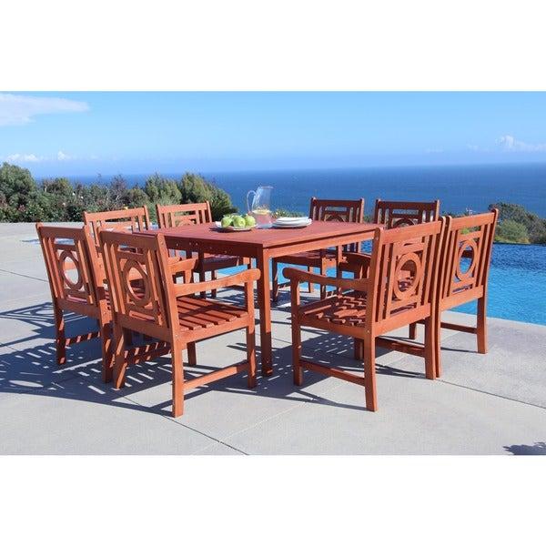 Shop Malibu Eco Friendly 9 Piece Outdoor Hardwood Dining