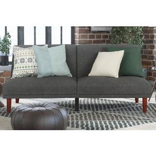 Jacksonville Gray Fabric Futon Sleeper Sofa Bed Overstock Shopping Great
