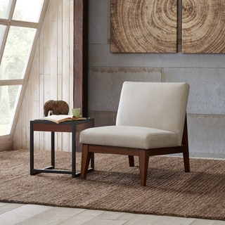 Link to Madison Park Adria Cream Upholtered Chair Similar Items in Living Room Chairs
