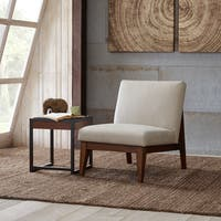 "Madison Park Adria Cream Upholtered Chair - 26""w x 32""d x 32.25""h"