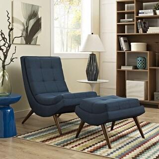 Ramp Mid Century Fabric Lounge Chair Set
