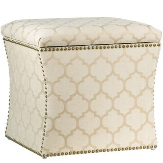 Skyline Furniture Pastis Sand Nail Button Storage Ottoman