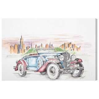 Oliver Gal 'Hot Rod'  Canvas Art by Paul Kaminer