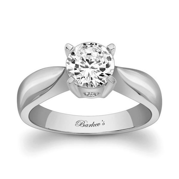3e3a8d748 Barkev's Designer 14k White Gold Round-cut Solitaire Diamond  Engagement Ring