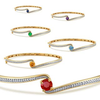 Divina 14k gold plated birthstone and white sapphire fashion bangle https://ak1.ostkcdn.com/images/products/11531430/P18479008.jpg?impolicy=medium