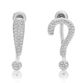 Diamond Punctuation Earring Jackets, 3/4 inch