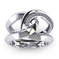 Super Bold And Gorgeous 1/4 Carat Diamond Band In 14K White Gold - White I-J