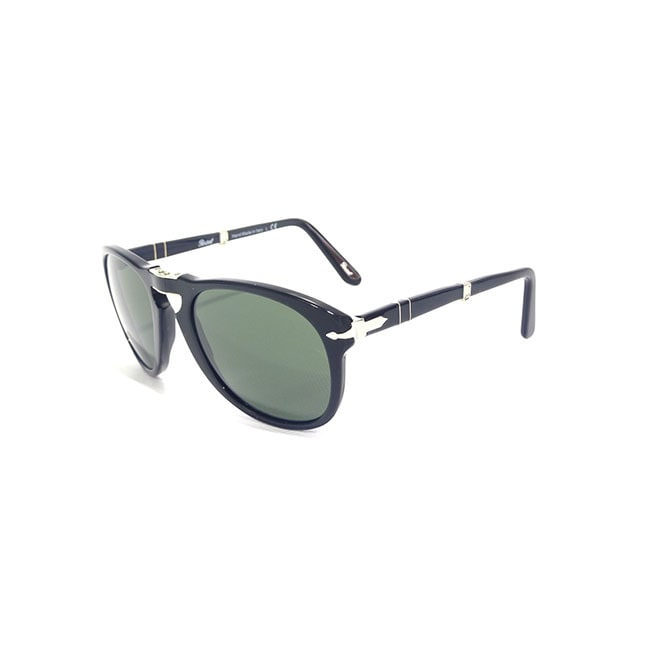 Persol Men's PO714 Polarized/ Aviator Sunglasses (Black/P...