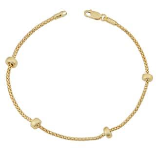 Fremada 18k Yellow Gold Italian Puffed Bead Station Bracelet (7.5 inches)|https://ak1.ostkcdn.com/images/products/11531671/P18479164.jpg?impolicy=medium