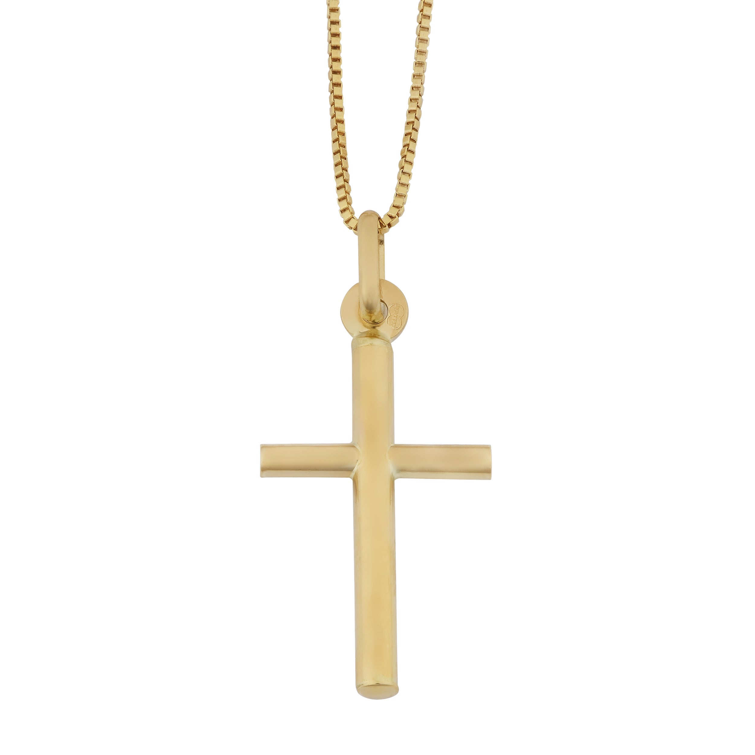 Love, Hope, Faith 14k Yellow Gold Religious Heart Cross Anchor Small Small//Mini Charm with 18 Rolo Chain