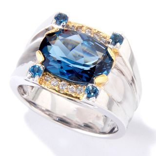 One-of-a-kind Michael Valitutti London Blue Topaz Men's Ring