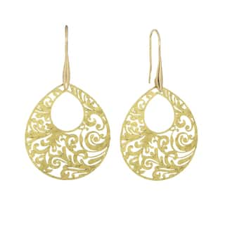 Isla Simone Gold Tone Paisley Etched Oval Earring|https://ak1.ostkcdn.com/images/products/11531726/P18479195.jpg?impolicy=medium