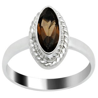 Orchid Jewelry's Nice Brass Ring with 1.00 CTTW Genuine Smoky Quartz