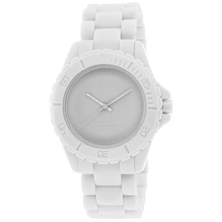Kr3w Women's K1231W Phantom Round White Palstic Strap Watch