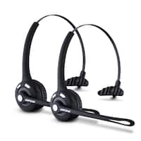Mpow Pro Bluetooth Headset for Car/Truck Driver, Wireless Headphones With Mic for Call Center, VoIP, Skype, Cellphones