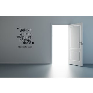 Expression Believe You Can Wall Art Sticker Decal