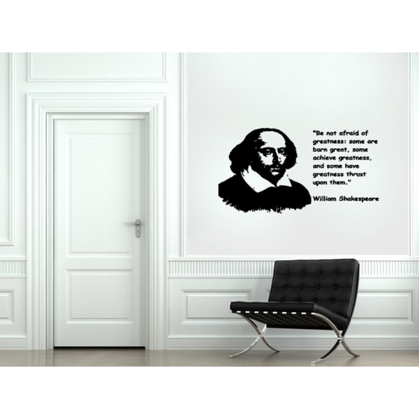 Expression Be Not Afraid Of Greatness Wall Art Sticker Decal