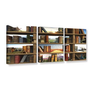 ArtWall Cynthia Decker's 'story world' 3-piece Gallery Wrapped Canvas Set - multi